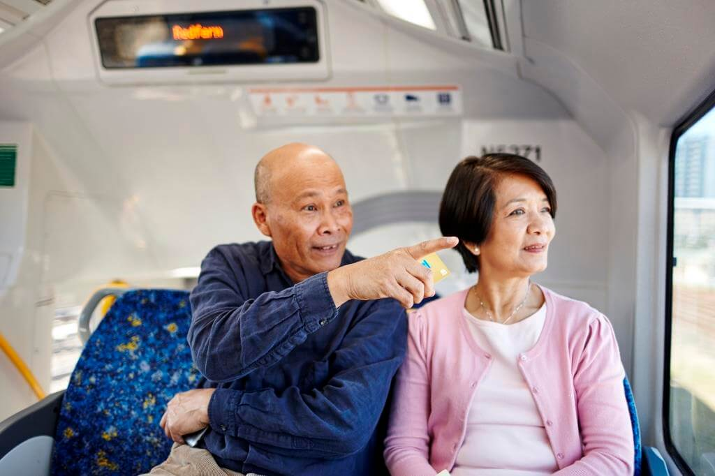 Chinese passengers on Sydney trains